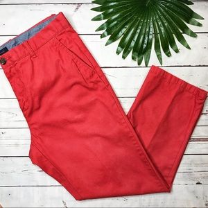 {Tommy Hilfiger} sz 36 rust red chinos